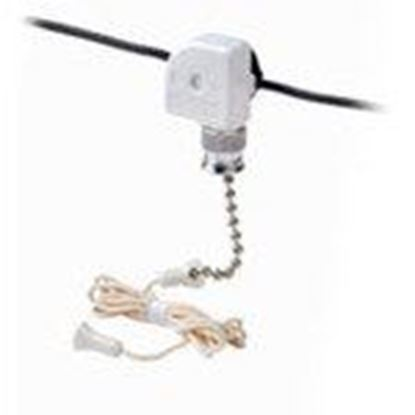 Picture of Leviton 10041-500 Pull Chain Switch, Compact, 3/6A, 125/250V, 1 Circuit, ON-OFF