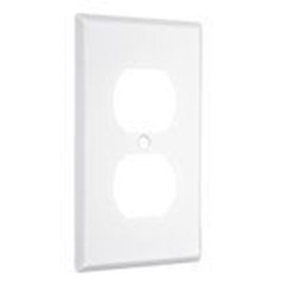 Picture of Hubbell-TayMac WW-D 1-Gang Metal Wallplate, Standard, Duplex, White Smooth