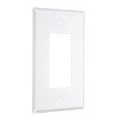 Picture of Hubbell-TayMac WW-R 1-Gang Metal Wallplate, Standard, Decorator, White Smooth