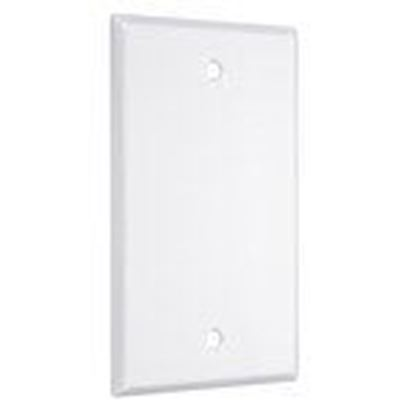 Picture of Hubbell-TayMac WW-B 1-Gang Metal Wallplate, Standard, Blank, White Smooth