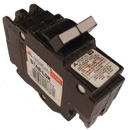 Picture of American Circuit Breakers 0250 50A, 2P, 120/240V, 10 kAIC CB, Small Frame