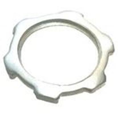 "Picture of Cooper Crouse-Hinds 11 Locknut, Size: 1/2"", Material: Steel"