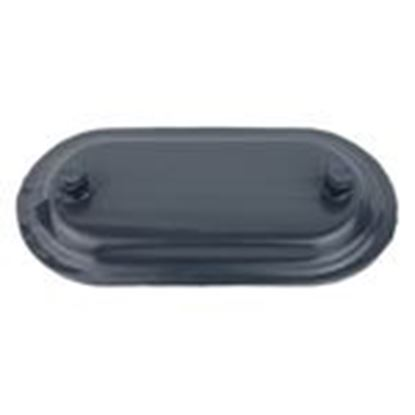 "Picture of Ocal 170F-G PVC Coated Conduit Body Cover, 1/2"", Form 7, PVC Coated"