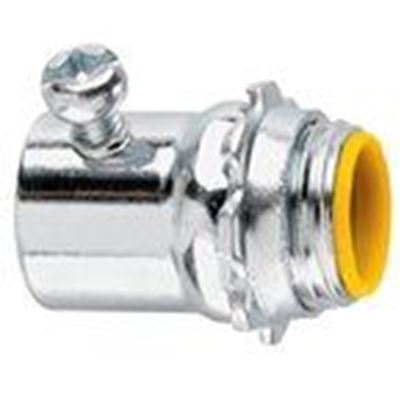 """Picture of Cooper Crouse-Hinds 1451 EMT Set Screw Connector, 3/4"""", Insulated, Steel"""