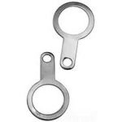 """Picture of Appleton 075NPTET5 Earth Tag, 3/4"""", Nickel Plated Brass"""
