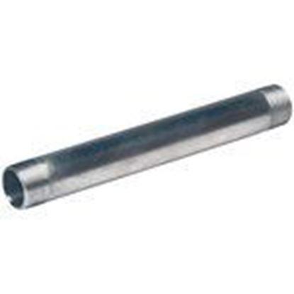 """Picture of 110ANP 1"""" x 10"""" Aluminum Conduit Nipple"""