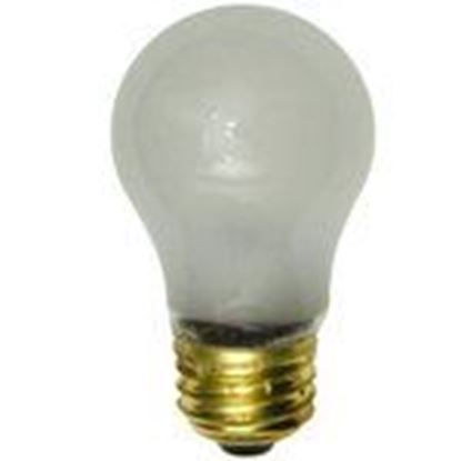 Picture of Shat-R-Shield 01124E Incandescent Bulb, Shatter-Resistant, A15, 40W, 230-250V, Frosted