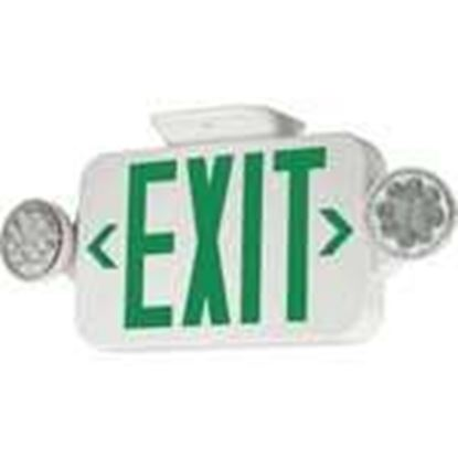 Picture of Hubbell-Dual-Lite CCG Combo Emergency/Exit Light, Universal Face, Green Letters, Canopy