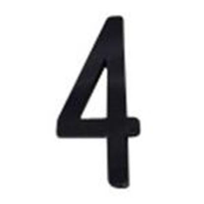 """Picture of Aero-Lite NUM4 #4 4"""" Number """"4"""""""