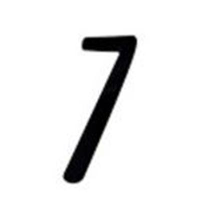 """Picture of Aero-Lite NUM4 #7 4"""" Number """"7"""""""