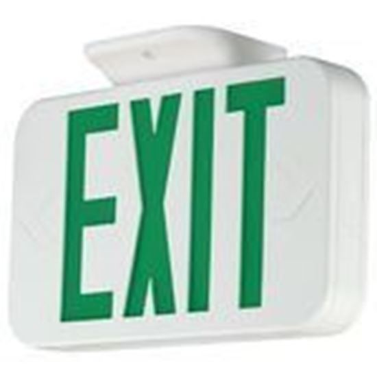 Picture of Hubbell-Dual-Lite CEG Emergency Exit Sign, Green Letters, Universal Face