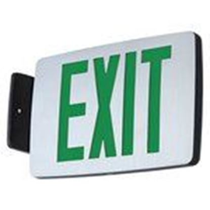 Picture of Hubbell-Dual-Lite CCESGE Emergency Exit, Single Face, Green Letters, AC Damp Location