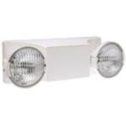 Picture of Hubbell-Dual-Lite EZ-2 Emergency Light, Incandescent, 2-Head, 5.4W, 6V, White