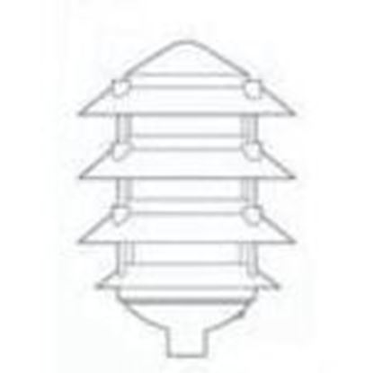 Picture of BWF P-4AB 4-Tier Louver Light, Bronze