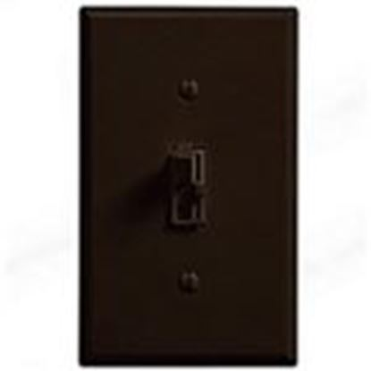 Picture of Lutron AY-603PH-BR Toggle Dimmer, 600W, 3-Way, Ariadni, Brown