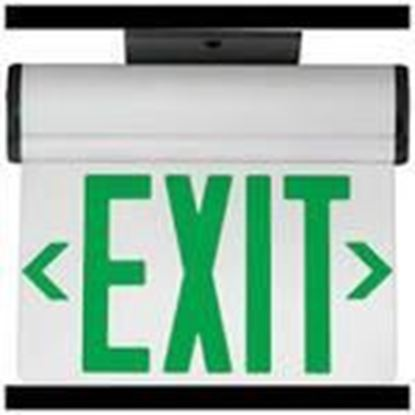 Picture of Hubbell-Dual-Lite CELS1GNE Edge Lit LED Exit Sign, Single Face, Green