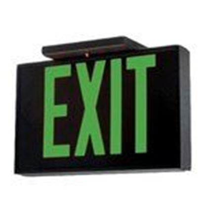 Picture of Hubbell-Dual-Lite SESGBNE Exit Sign Sgl Green Lettrs Blk-brushed Em