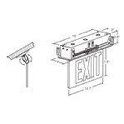 Picture of Hubbell-Dual-Lite CELR1GNE Emergency Exit Sign, Single Face, Green Letters