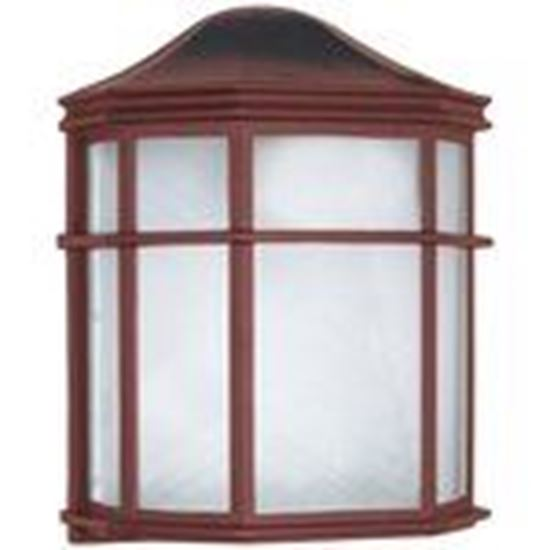 Picture of Satco 60/538 1-Light Die-Cast Caged Outdoor Wall Lantern in Old Bronze Finish with Acrylic Lens