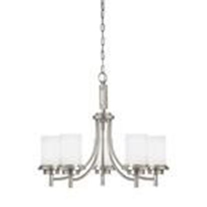 Picture of Sea Gull 31661EN3-962 5-Light Chandelier, LED, 120V, Brushed Nickel Finish