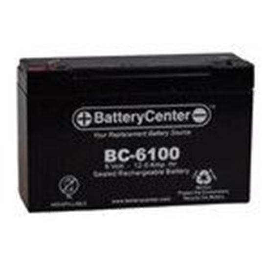 Picture of BCI BC-6100 Sealed Lead Acid Battery, 6V, 12A