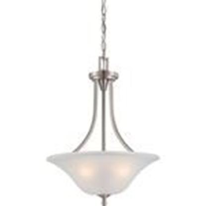 Picture of Satco 60/4147 3-Lights Frosted Glass Pendant Light in Brushed Nickel