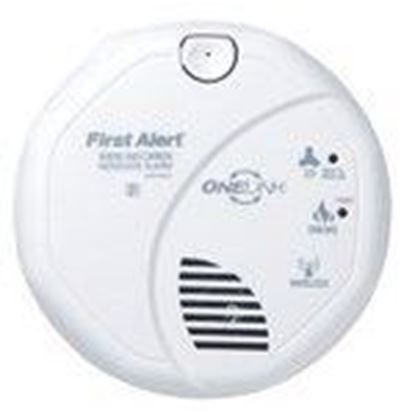 Picture of BRK-First Alert SCO500B Wireless Onelink Smoke/Carbon Monoxide Alarm, Battery Operated, White