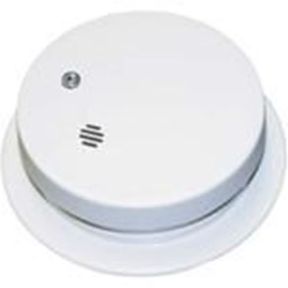 "Picture of Kidde Fire 0914E Smoke Alarm, 4"" Diameter, 9V Battery Powered, Ionization, White"