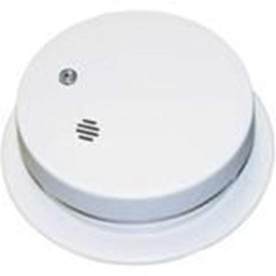 "Picture of Kidde Fire 0914E Smoke Alarm, 4"" Diameter, 9V Battery Powered, Ionization, White"