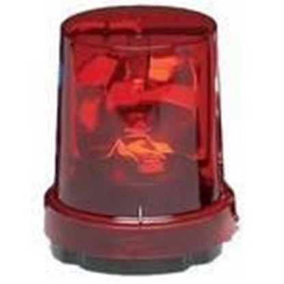 Picture of Federal Signal 121S-120R Beacon, Rotating, Incandescent, Red, Voltage: 120V AC