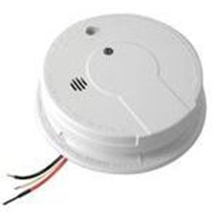 Picture of Kidde Fire 21006378 Smoke Alarm, Hard Wired, 120V AC/DC, 9V Battery Back-Up