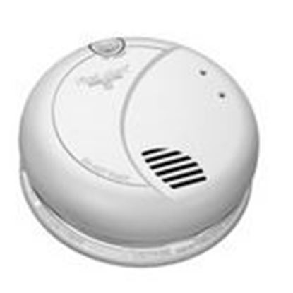 Picture of BRK-First Alert 7010B Smoke Detector, Photo, 120VAC, Interconnectable, 9V Battery Backup
