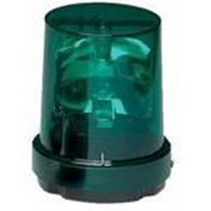 Picture of Federal Signal 121S-120G Incandescent Rotating Beacon, Green