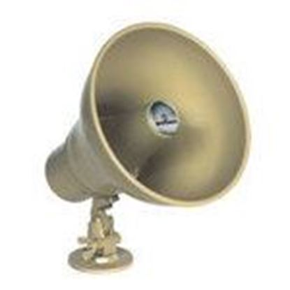 Picture of Bogen HS15EZ Horn Loudspeaker, Tilt/Swivel, 15W, Weatherproof, Metallic