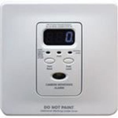Picture of Kidde Fire 21007426 Carbon Monoxide Alarm, 120VAC, Wire-In, Battery Back-Up, White