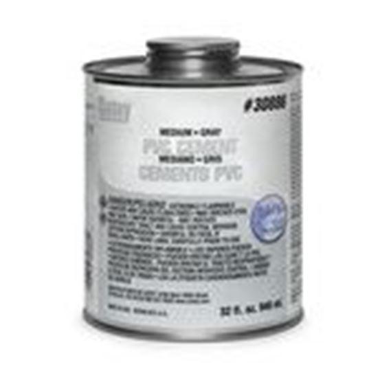 Picture of Morris Products G30886 PVC Medium Gray Cement - Quart