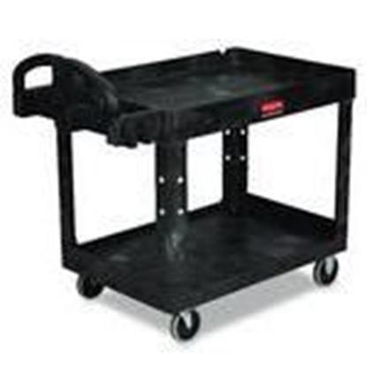 Picture of Rubbermaid FG452088BLA Heavy Duty 2-Shelf Utility Cart