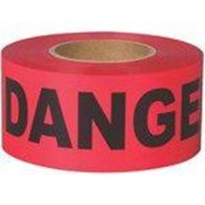 """Picture of Shurtape 232532 """"DANGER"""" Barricade Tape, 3"""" x 1000', Red"""