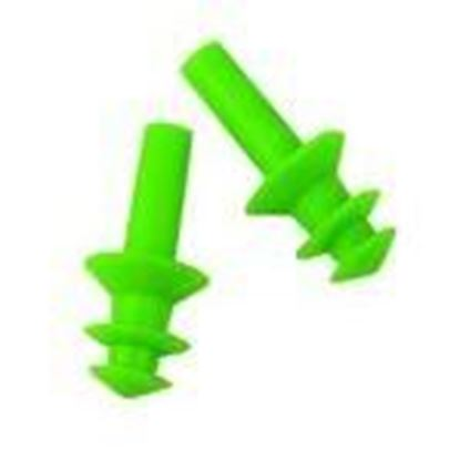 Picture of Lift Safety ACG-7G6 Flange Ear Plugs - Green, 6 Pair per Box