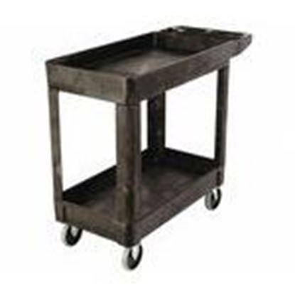 Picture of Rubbermaid FG450089BLA Utility Cart, Lipped Shelf