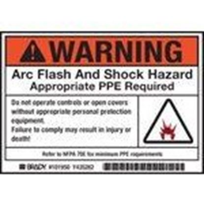Picture of Brady 101950 Arc Flash/Shock Hazard Label
