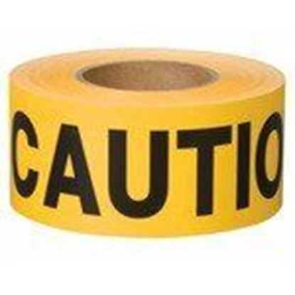 """Picture of Shurtape 232531 """"Caution"""" Barricade Tape, 3"""" x 1000', Yellow"""
