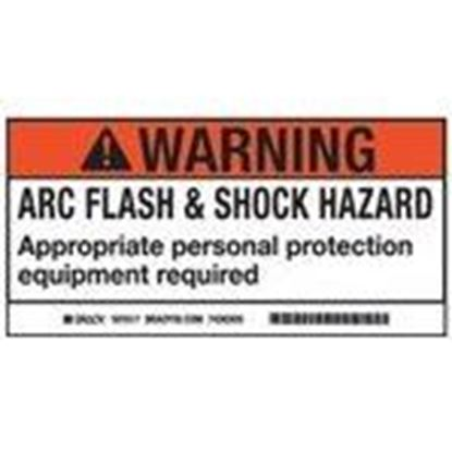 Picture of Brady 101519 Arc Flash/Shock Hazard Label