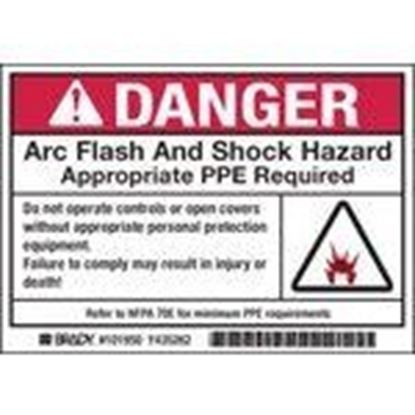 Picture of Brady 101951 Arc Flash/Shock Hazard Label