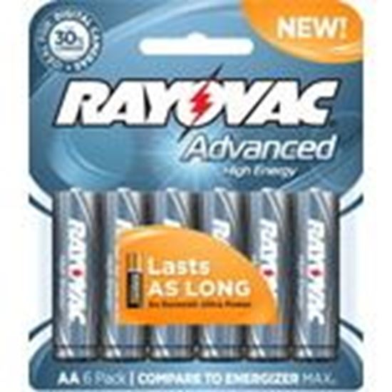 Picture of Rayovac 815-6HEF 1.5V AA Battery - 6-Pack