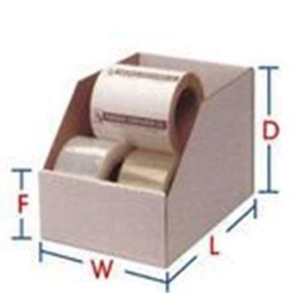 """Picture of BIN-Box B-13 Self-Locking Bin Box - Dimensions: 24""""L x 4""""W x 4-1/2""""H"""