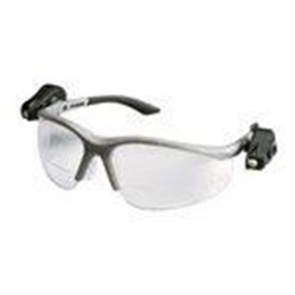 Picture of 3M 11477 Protective Eyewear with LED, Half-Frame, Gray,Anti-Fog Lens