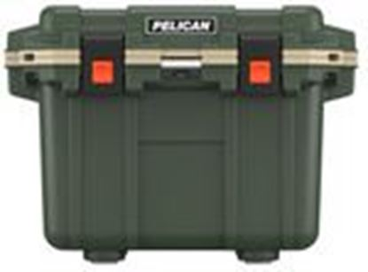 Picture of Pelican Products 30Q-2-ODTAN Marine Chest Cooler, 30 Qt, Green/Tan