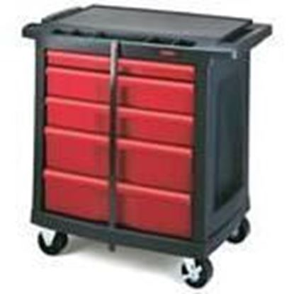 Picture of Rubbermaid FG773488BLA 5-Drawer Mobile Work Cart