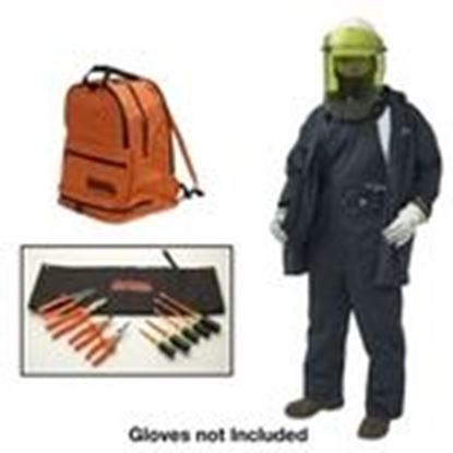 Picture of Cementex BPK-CFRCA12-XL Arc Flash Coverall Kit: Coveralls, Dielectric Hard Hat, Safety Glasses - Size: XL